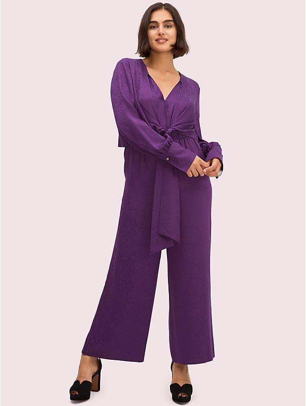 tie front jumpsuit, , rr_large