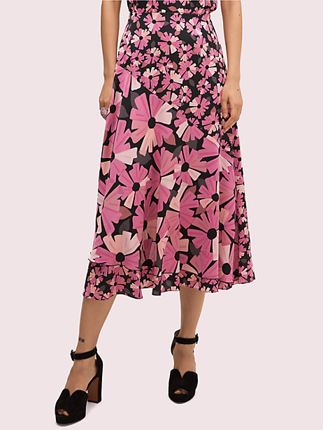 floral satin skirt by kate spade new york