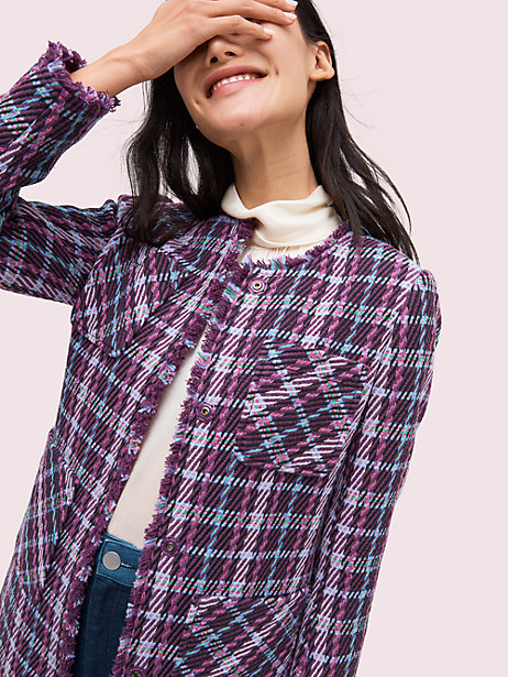 Plaid tweed coat | Kate Spade New York