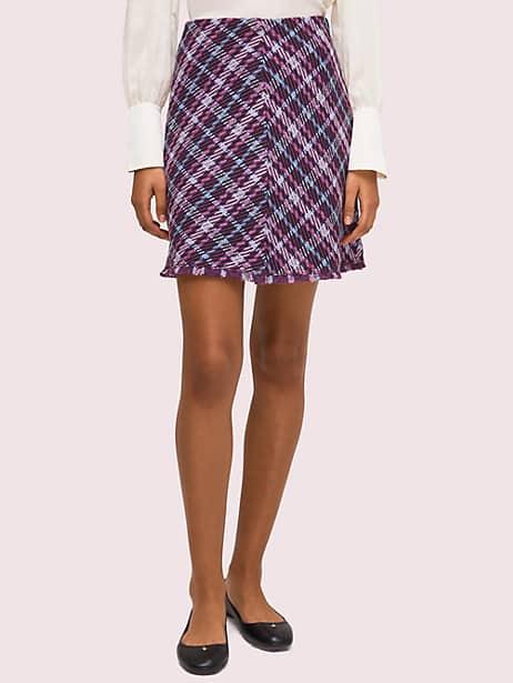 plaid tweed skirt by kate spade new york