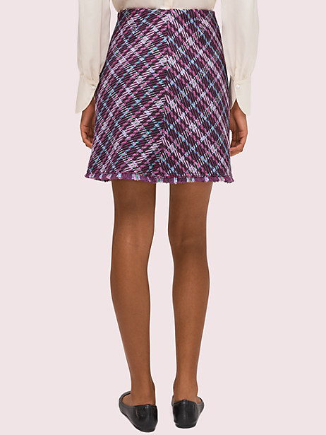 Plaid tweed skirt   Kate Spade New York