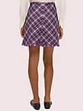 plaid tweed skirt, , s7productThumbnail