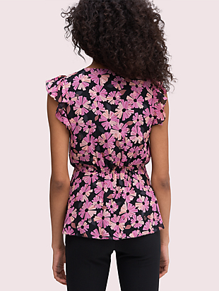 floral chiffon shell by kate spade new york hover view