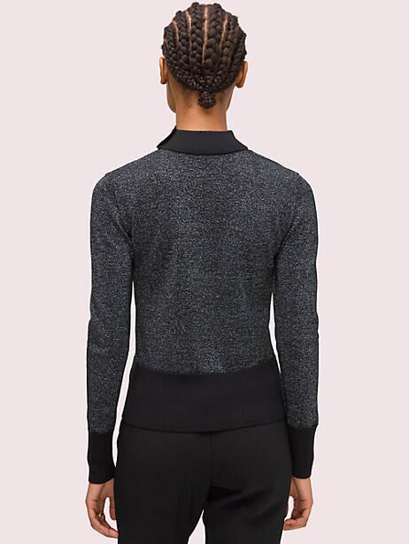 Metallic scoopneck sweater | Kate Spade New York