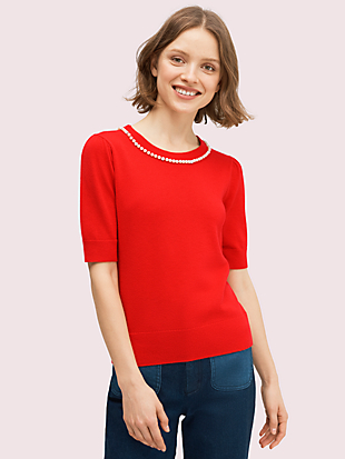 pearl pavé sweater by kate spade new york non-hover view