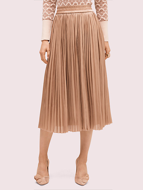 metallic midi skirt by kate spade new york