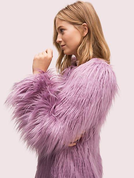 Faux fur coat   Kate Spade New York