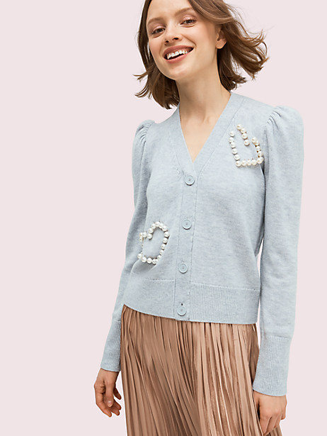 pearl heart cardigan by kate spade new york