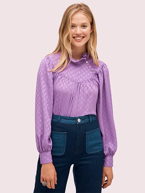 Dotty ruffle blouse | Kate Spade New York
