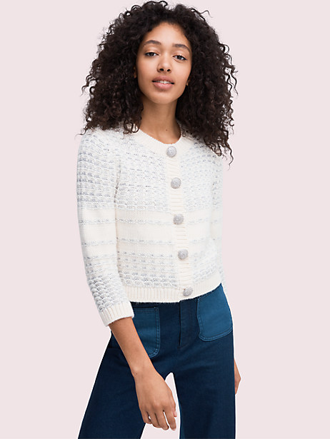 jewel button texture cardigan by kate spade new york