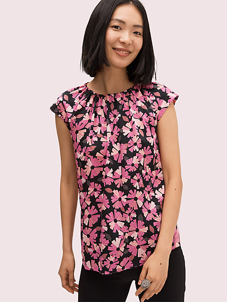 Floral tie neck shell   Kate Spade New York