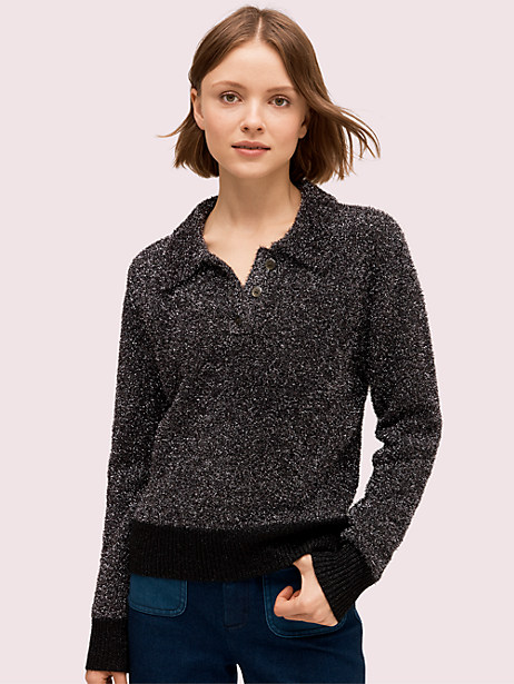 sparkle polo sweater by kate spade new york