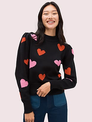 hearts mockneck sweater by kate spade new york non-hover view