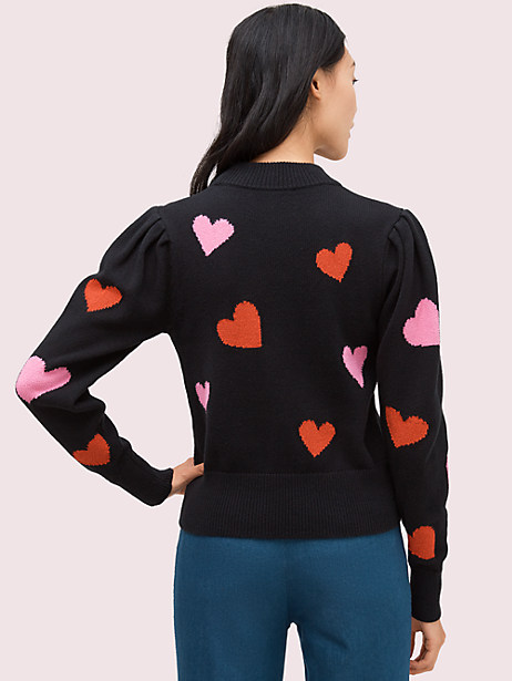 Hearts mockneck sweater   Kate Spade New York