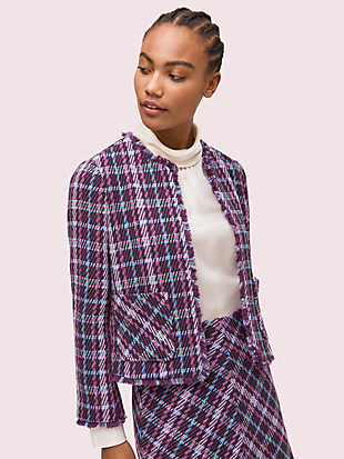 plaid tweed jacket by kate spade new york non-hover view