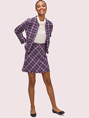 plaid tweed jacket by kate spade new york hover view