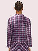 plaid tweed jacket, , s7productThumbnail