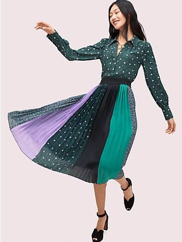 pop dots print mix skirt, , rr_productgrid