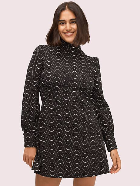 wavy dot ponte dress by kate spade new york
