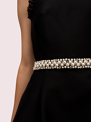 pearl crystal mikado dress by kate spade new york hover view