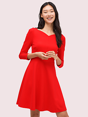 ponte fit-and-flare dress by kate spade new york non-hover view