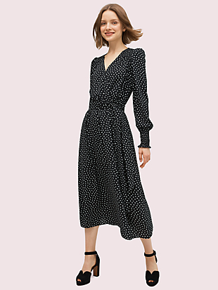 heartbeat smocked dress by kate spade new york non-hover view
