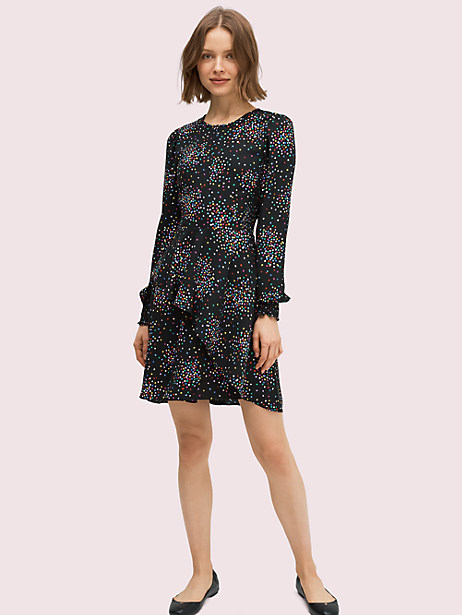 confetti cheer smocked dress by kate spade new york