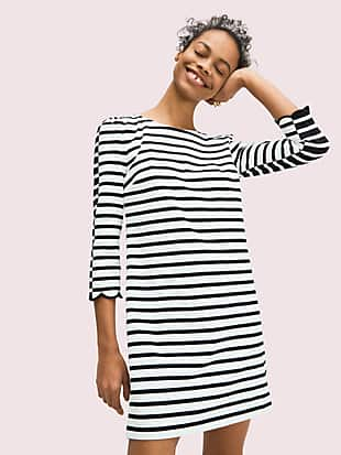 sailing stripe scallop dress by kate spade new york non-hover view