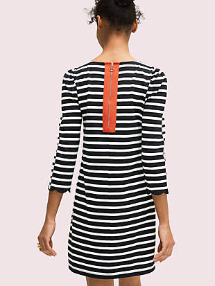 sailing stripe scallop dress by kate spade new york hover view