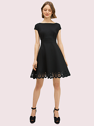 eyelet ponte fiorella dress by kate spade new york non-hover view