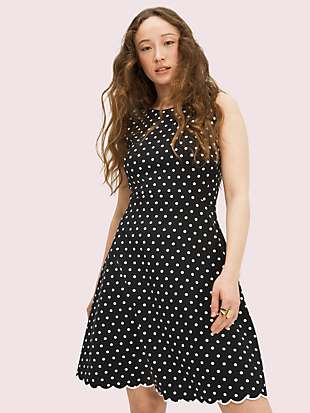 cabana dot ponte dress by kate spade new york non-hover view
