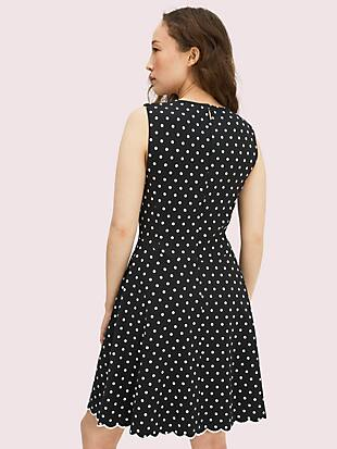 cabana dot ponte dress by kate spade new york hover view
