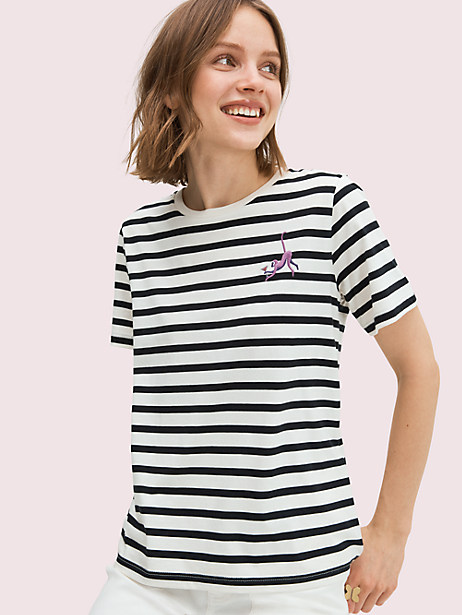 martini monkey tee, french cream, large by kate spade new york