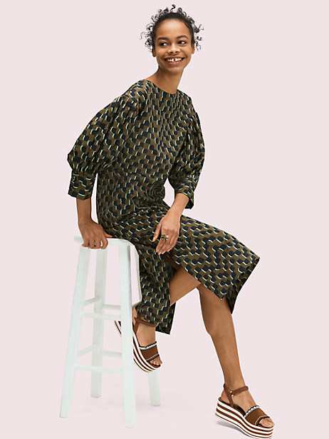 trellis dress, ivy leaf, large by kate spade new york