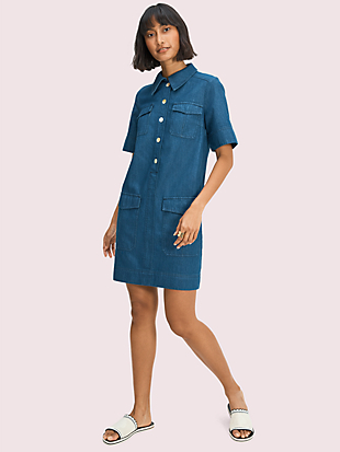 denim utility shirtdress by kate spade new york non-hover view