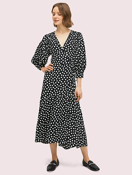 cloud dot wrap dress by kate spade new york