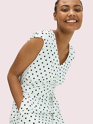 cabana dot jumpsuit by kate spade new york hover view