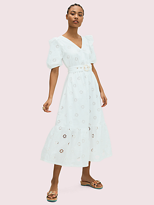 spade clover eyelet dress by kate spade new york non-hover view