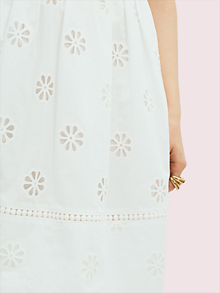 spade clover eyelet minidress by kate spade new york hover view