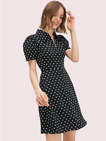 Gesmoktes Cabana Dot Kleid, , rr_productgrid