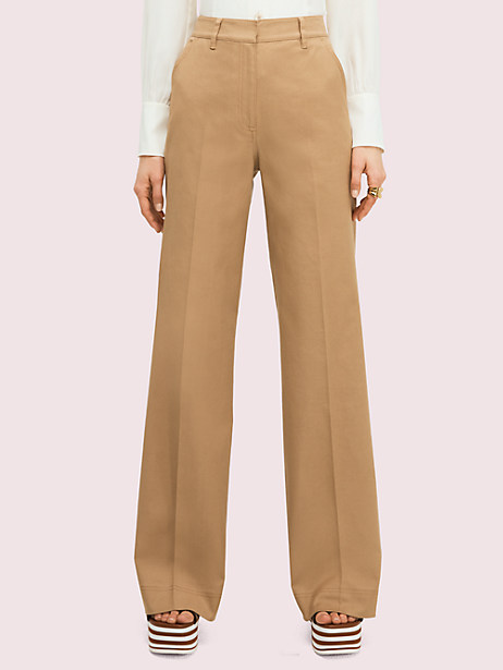 solid cotton trouser by kate spade new york