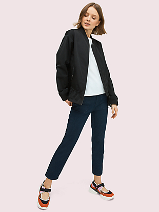 twill bomber jacket by kate spade new york non-hover view