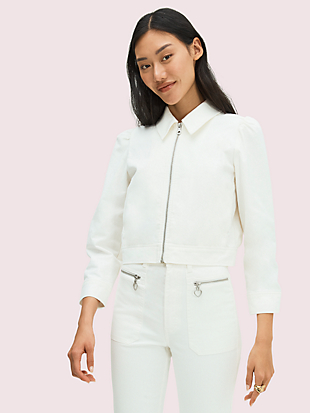 cropped denim jacket by kate spade new york non-hover view