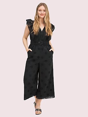 spade clover eyelet jumpsuit by kate spade new york hover view