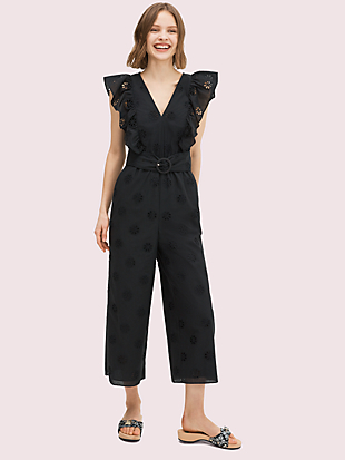 spade clover eyelet jumpsuit by kate spade new york non-hover view