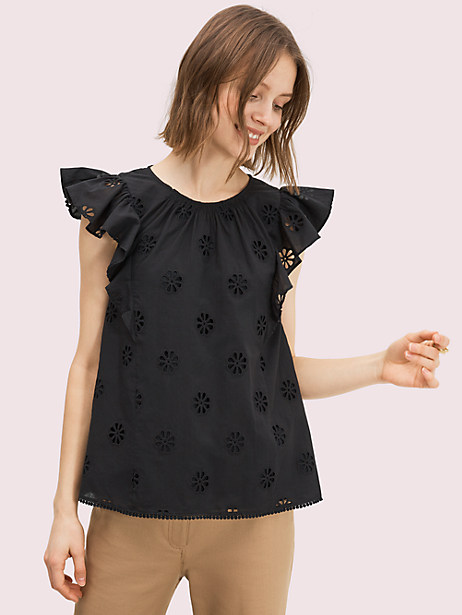spade clover eyelet top by kate spade new york