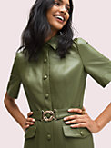 belted leather shirtdress, , s7productThumbnail