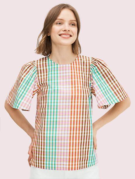 rainbow plaid top by kate spade new york