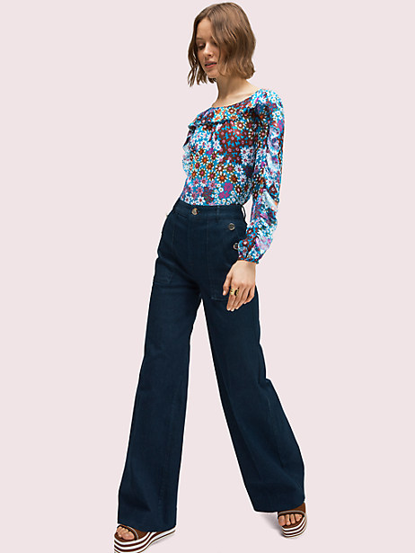 denim button trouser by kate spade new york