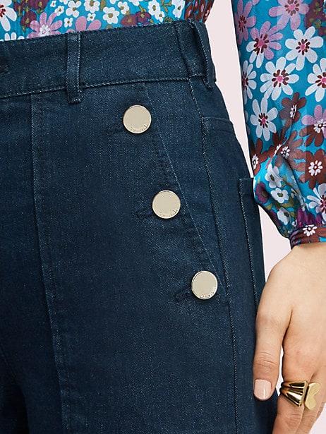 Denim button trouser   Kate Spade New York